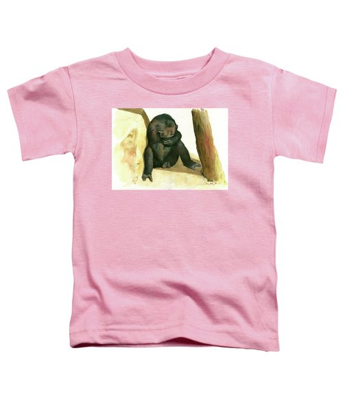 Chimp Toddler T-Shirt by Juan Bosco