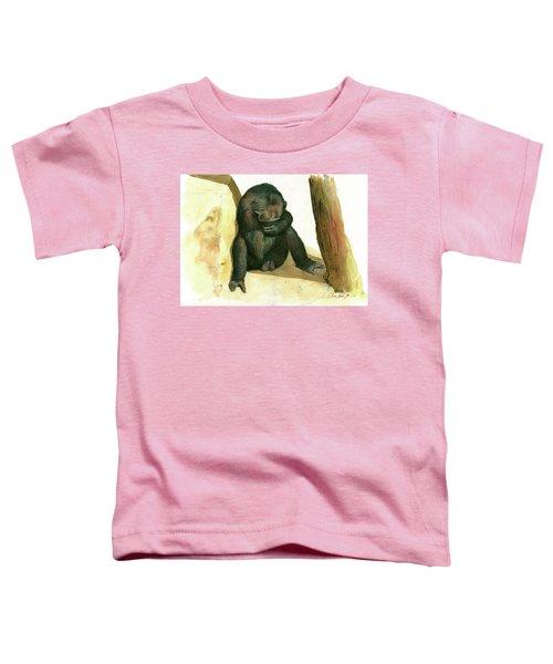 Chimp Toddler T-Shirt by Juan Bosco