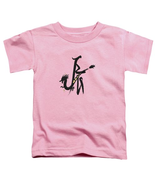 Chinese Zodiac - Year Of The Dragon On Rice Paper Toddler T-Shirt