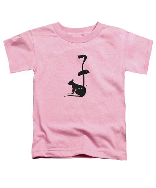 Chinese Zodiac - Year Of The Rat On Rice Paper Toddler T-Shirt