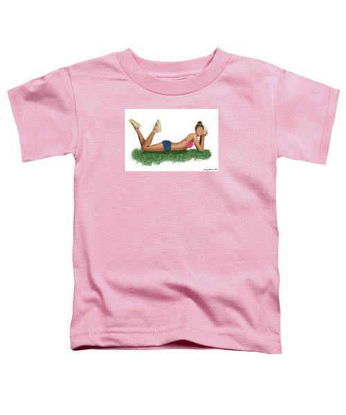 Toddler T-Shirt featuring the digital art Chloe by Nancy Levan