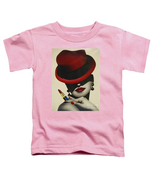Christion Dior Red Hat Lady Toddler T-Shirt