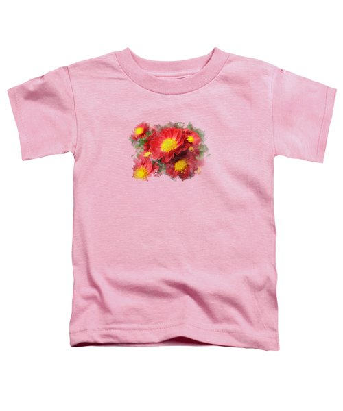 Chrysanthemum Watercolor Art Toddler T-Shirt