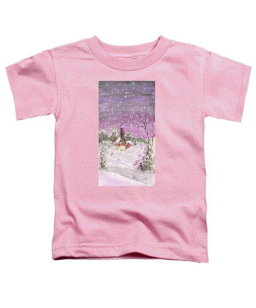 Church In The Snow Toddler T-Shirt