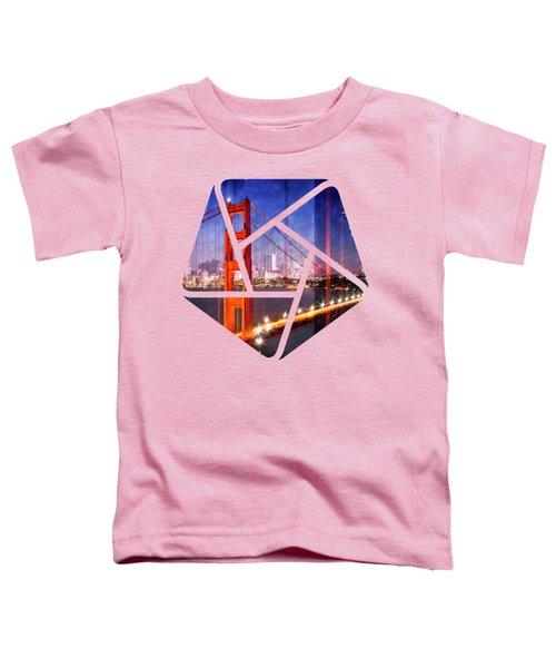 City Art Golden Gate Bridge Composing Toddler T-Shirt by Melanie Viola