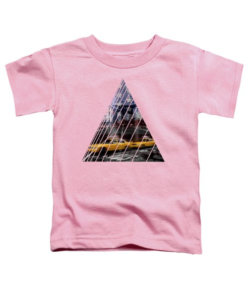 City-art Nyc Composing Toddler T-Shirt by Melanie Viola