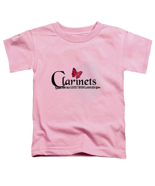 Clarinets And Butterfly Toddler T-Shirt