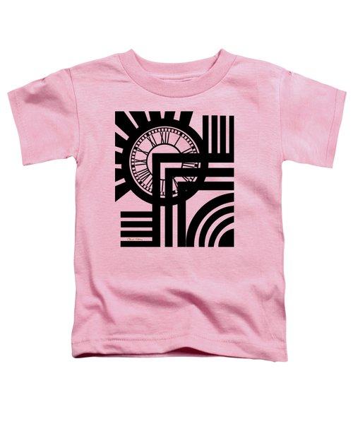 Clock Design Vertical Toddler T-Shirt