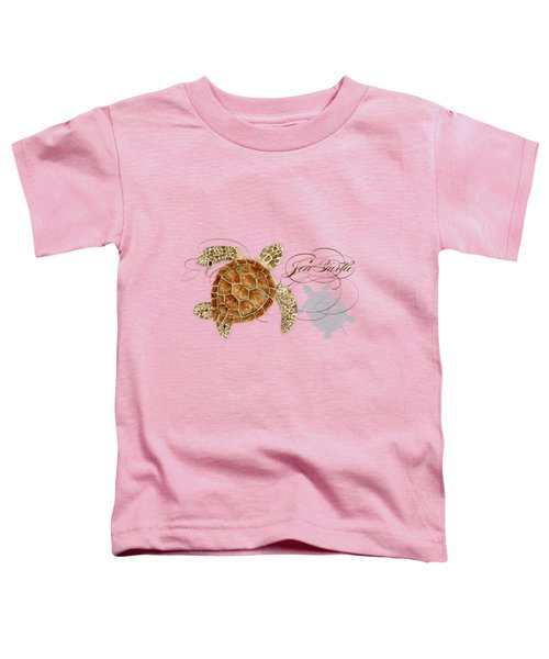 Coastal Waterways - Green Sea Turtle Rectangle 2 Toddler T-Shirt by Audrey Jeanne Roberts
