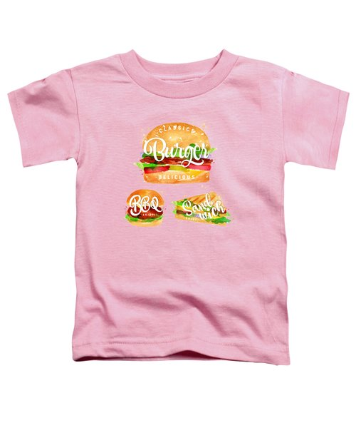 Color Burger Toddler T-Shirt by Aloke Creative Store