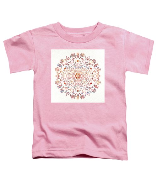 Colorful Mandala On Watercolor Paper Toddler T-Shirt