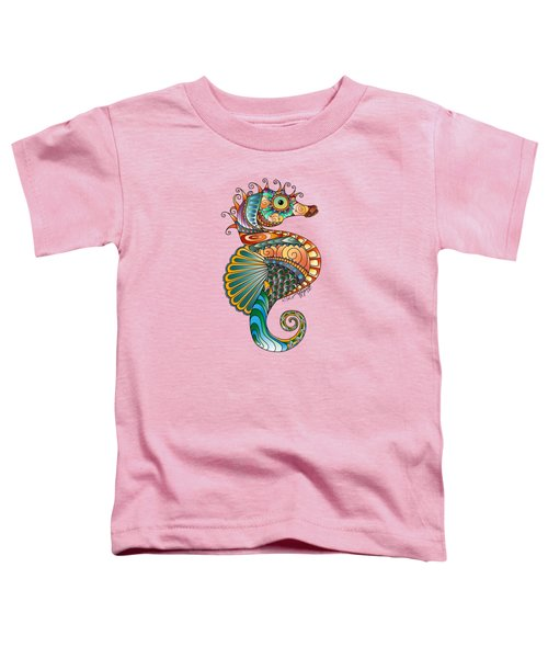 Colorful Seahorse Toddler T-Shirt