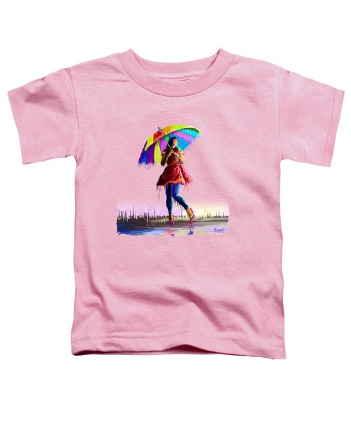 Colorful Umbrella Toddler T-Shirt