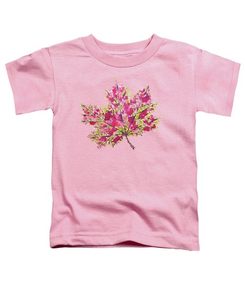 Colorful Watercolor Autumn Leaf Toddler T-Shirt