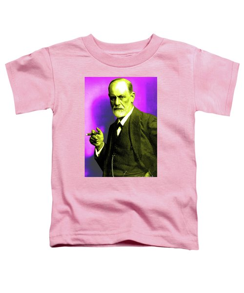 Colorized Photo Of Sigmund Freud  Purple And Green Toddler T-Shirt