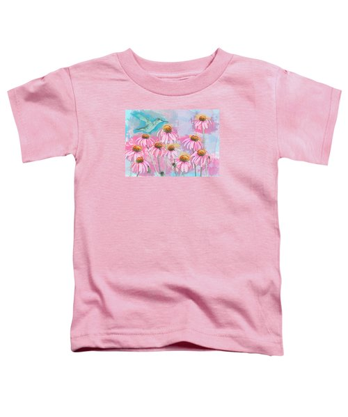 Coneflower Hummingbird Watercolor Toddler T-Shirt