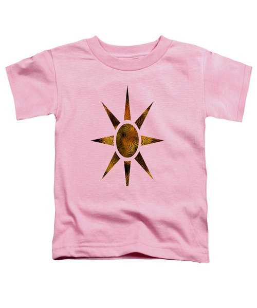 Copper Spirals Abstract Square Toddler T-Shirt