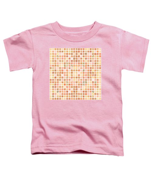 Toddler T-Shirt featuring the digital art Coral Ocean Tiles by Joy McKenzie