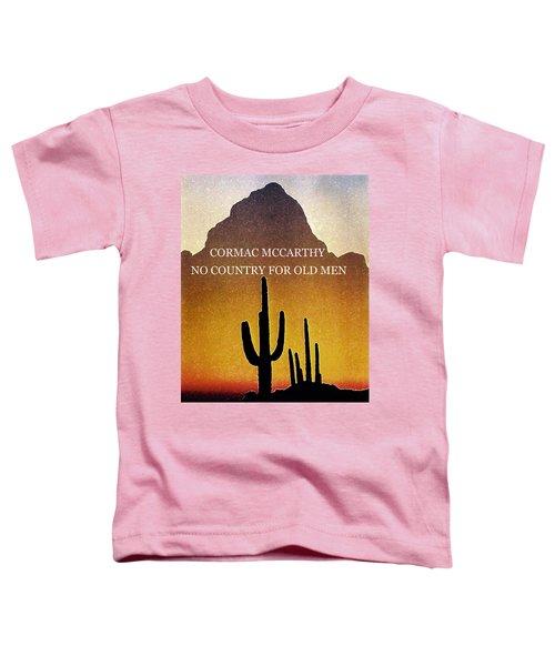 Cormac Mccarthy Poster  Toddler T-Shirt