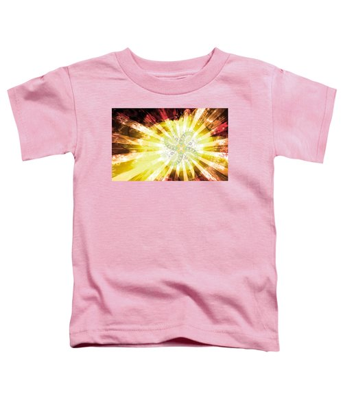 Toddler T-Shirt featuring the digital art Cosmic Solar Flower Fern Flare 2 by Shawn Dall