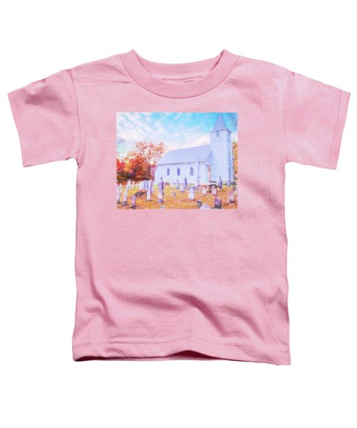 Country White Church And Old Cemetery. Toddler T-Shirt