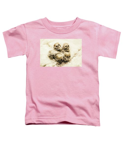 Creepy Skulls Covered In Spiderwebs Toddler T-Shirt