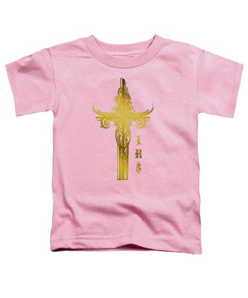 Cross Ihs Gold Toddler T-Shirt