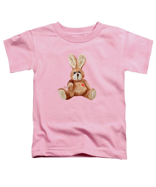 Cuddly Care Rabbit Toddler T-Shirt by Angeles M Pomata