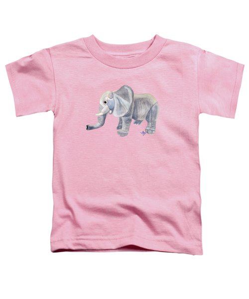 Cuddly Elephant II Toddler T-Shirt by Angeles M Pomata