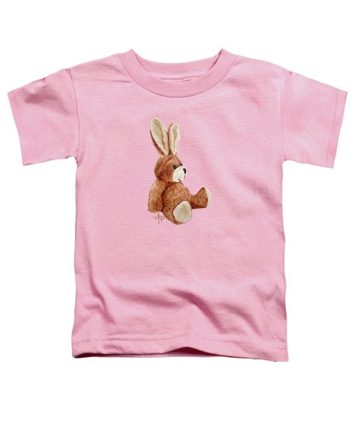 Cuddly Rabbit Toddler T-Shirt by Angeles M Pomata