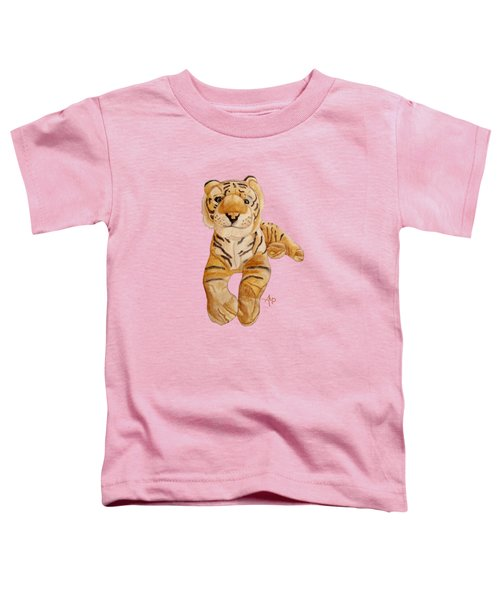 Cuddly Tiger Toddler T-Shirt by Angeles M Pomata
