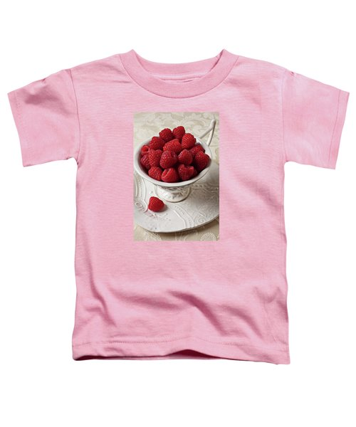 Cup Full Of Raspberries  Toddler T-Shirt by Garry Gay