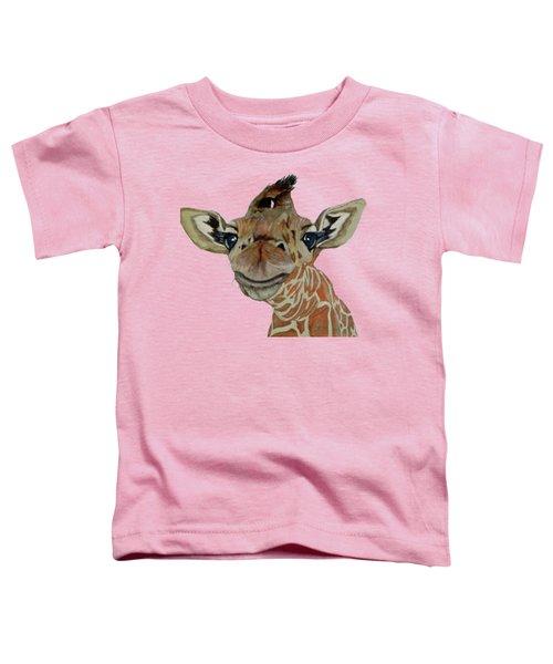 Cute Giraffe Baby Toddler T-Shirt by M Gilroy