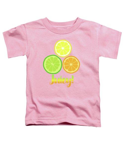 Cute Juicy Orange Lime Lemon Citrus Fun Art Toddler T-Shirt by Tina Lavoie