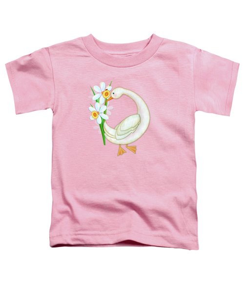 D Is For Duck And Daffodils Toddler T-Shirt