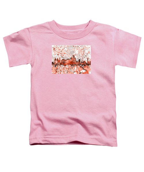 Dallas Skyline Map Red Toddler T-Shirt