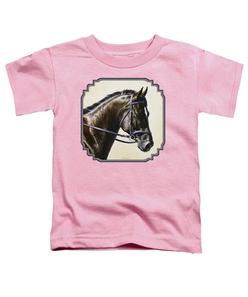 Dark Bay Dressage Horse Phone Case Toddler T-Shirt