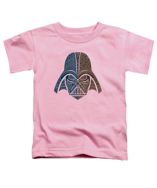 Darth Vader - Star Wars Art - Blue Brown Toddler T-Shirt