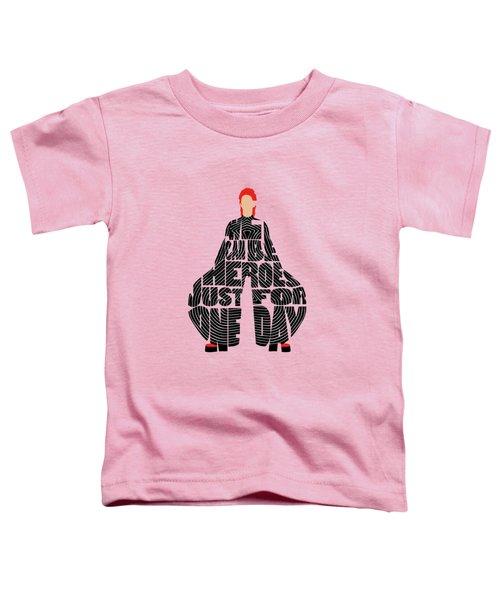 David Bowie Typography Art Toddler T-Shirt