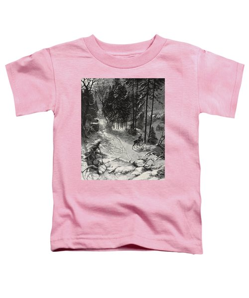 December Night Snow Covered Wood Toddler T-Shirt