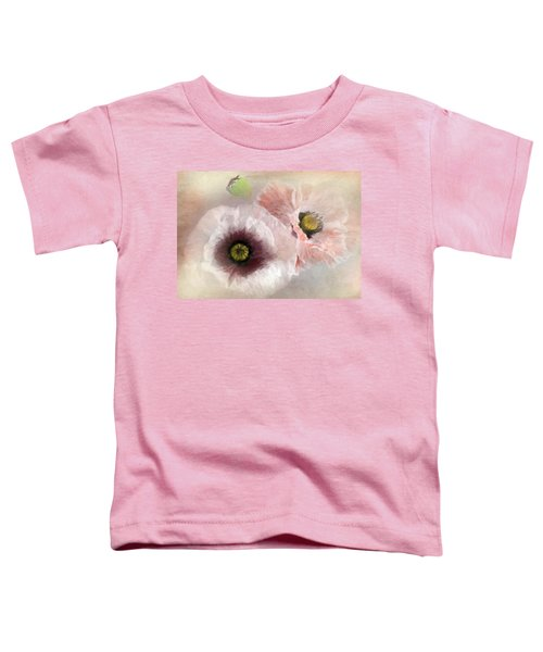 Delicate Pastel Poppies Toddler T-Shirt