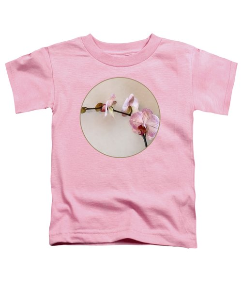 Delicate Pink Phalaenopsis Orchids Toddler T-Shirt