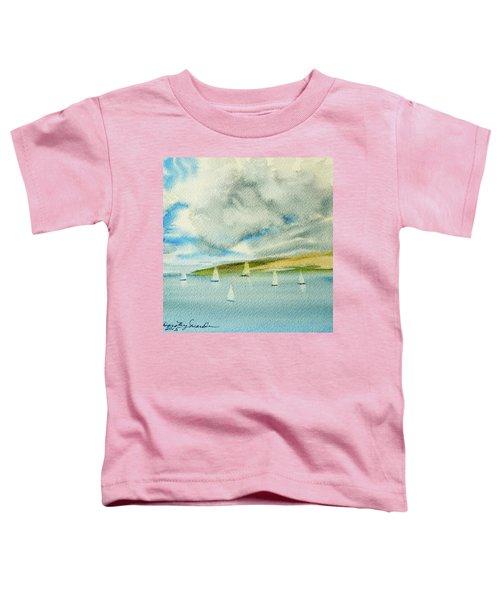 Dark Clouds Threaten Derwent River Sailing Fleet Toddler T-Shirt