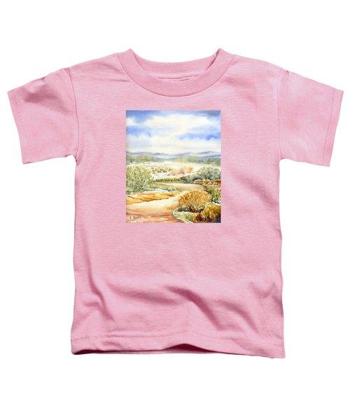 Desert Landscape Watercolor Toddler T-Shirt