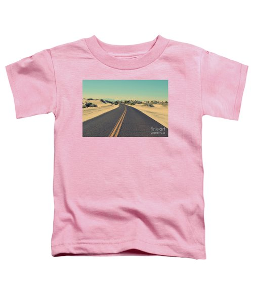 Toddler T-Shirt featuring the photograph Desert Road by MGL Meiklejohn Graphics Licensing