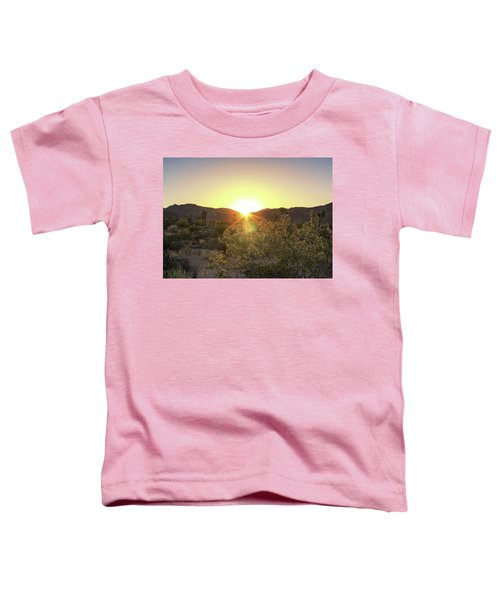 Toddler T-Shirt featuring the photograph Desert Sunset by Alison Frank