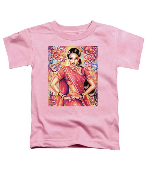 Toddler T-Shirt featuring the painting Devika Dance by Eva Campbell