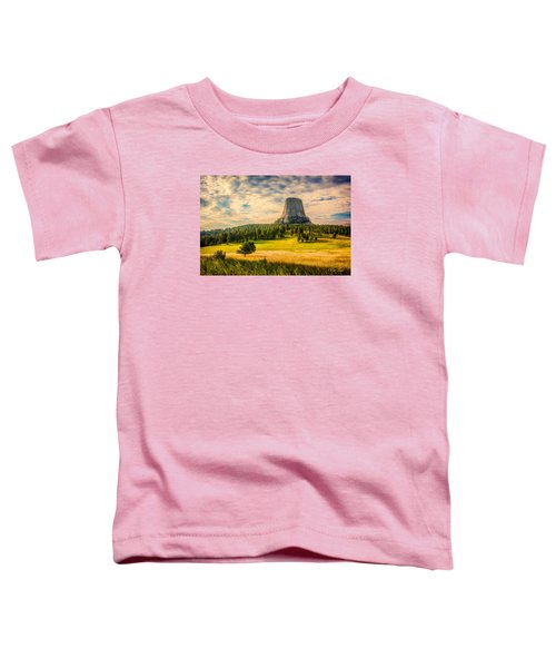 Toddler T-Shirt featuring the photograph Devil's Tower - The Other Side by Rikk Flohr