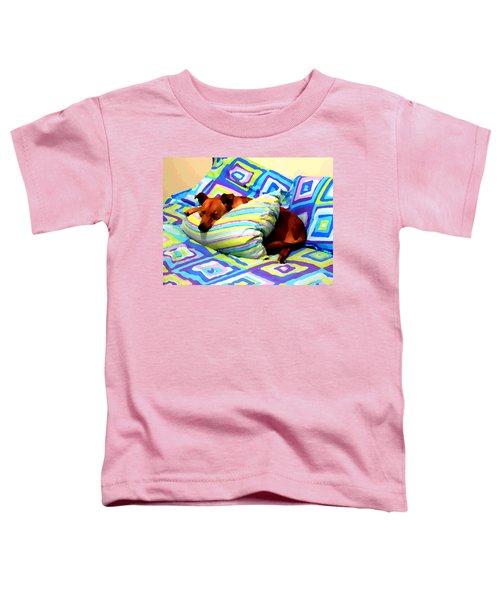 Dog Nap - Oil Effect Toddler T-Shirt