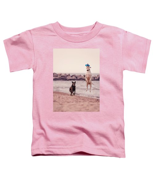 Dog With Frisbee Toddler T-Shirt